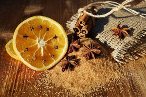 pomarańcza-goździki