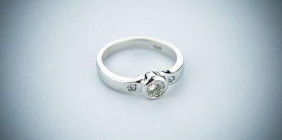 Srebro pierścionek